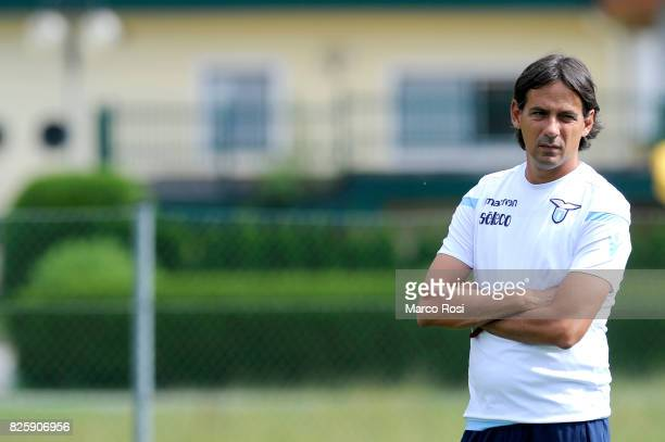 Lazio head coach Simone Inzaghi during the SS Lazio Training Camp on August 3 2017 in Walchsee Austria