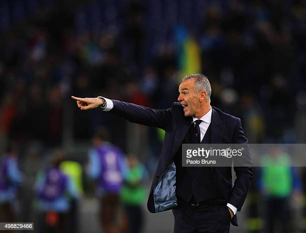 Lazio head coach Stefano Pioli gestures during the UEFA Europa League group G match between SS Lazio and FC Dnipro Dnipropetrovsk at Olimpico Stadium...