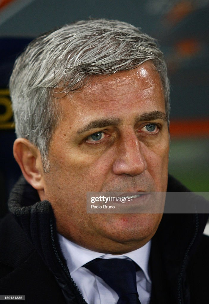 SS Lazio head coach Vladimir Petkovic looks on during the TIM Cup match between S.S. Lazio and Calcio Catania at Stadio Olimpico on January 8, 2013 in Rome, Italy.
