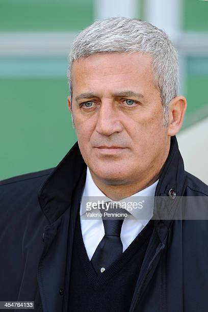 Lazio head coach Vladimir Petkovic looks on prior to the Serie A match between Torino FC and SS Lazio at Stadio Olimpico di Torino on December 8 2013...