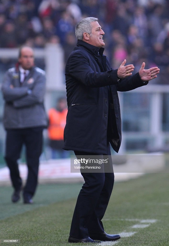 SS Lazio head coach Vladimir Petkovic reacts during the Serie A match between Torino FC and SS Lazio at Stadio Olimpico di Torino on December 8, 2013 in Turin, Italy.
