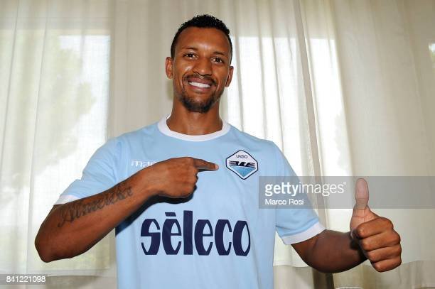 Lazio new signing Nani after the SS Lazio medical tests on August 31 2017 in Rome Italy