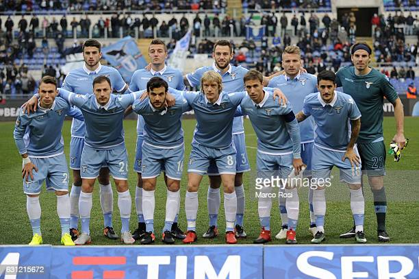 Lazio player posed a photo team before the Serie A match between SS Lazio and FC Crotone at Stadio Olimpico on January 8 2017 in Rome Italy