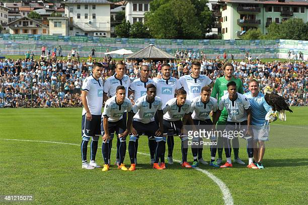 SS Lazio players poses before the preseason friendly match between SS Lazio and Vicenza Calcio on July 18 2015 in Auronzo near Cortina d'Ampezzo Italy