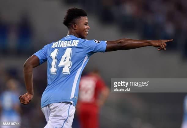 FUSSBALL CHAMPIONS Lazio Rom Bayer 04 Leverkusen Balde Diao Keita bejubelt seinen Treffer zum 10