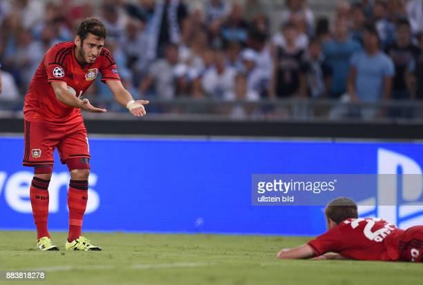 FUSSBALL CHAMPIONS Lazio Rom Bayer 04 Leverkusen Hakan Calhanoglu und Christoph Kramer