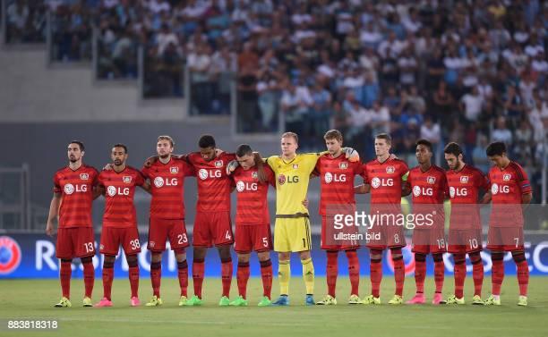 FUSSBALL CHAMPIONS Lazio Rom Bayer 04 Leverkusen Roberto Hilbert Karim Bellarabi Christoph Kramer Jonathan Tah Kyriakos Papadopoulos Torwart Bernd...