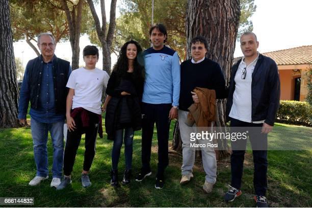Lazio season tickets presentation 20172018 with representatives of the first 11 subscribers from last season with the SS Lazio head coach Simone...
