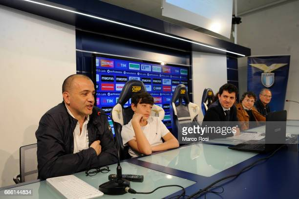 Lazio season tickets presentation 20172018 with representatives of the first 11 subscribers from last season during the press conference at the...