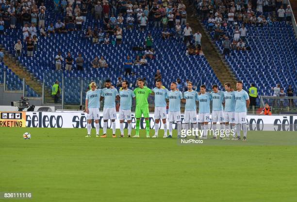 SS Lazio team during the Italian Serie A football match SS Lazio vs Spal at the Olympic Stadium in Rome august on 20 2017