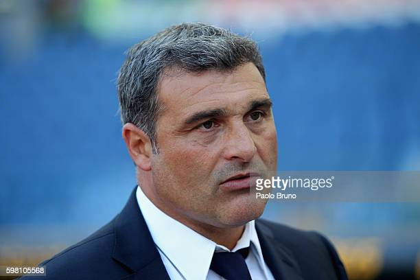 Lazio Team Manager Angelo Peruzzi looks on during the Serie A match between SS Lazio and Juventus FC at Stadio Olimpico on August 27 2016 in Rome...