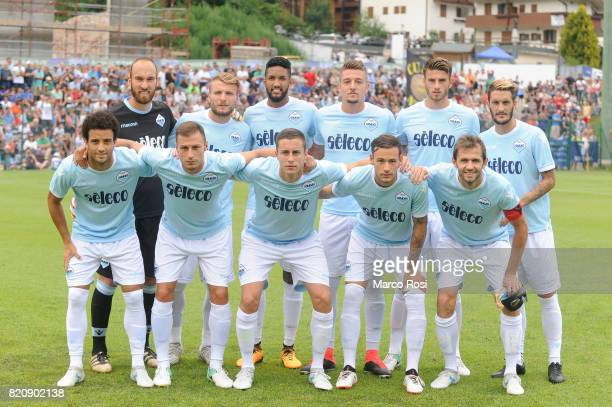 Lazio team pose a photo before the preseason friendly match between SS Lazio and SPAL on July 22 2017 in Pieve di Cadore Italy