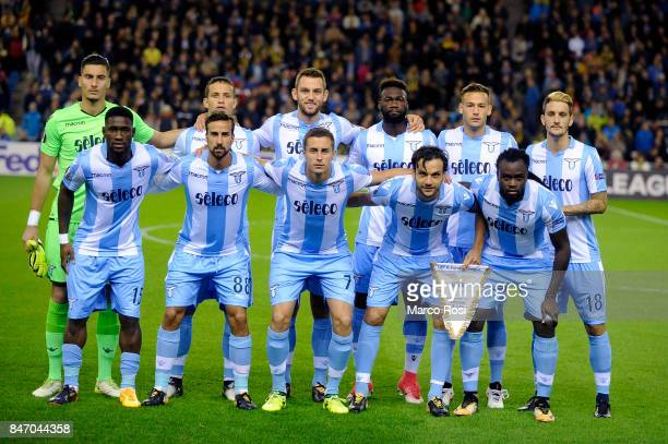 Lazio team posed a photo before the UEFA Europa League group K match between Vitesse and SS Lazio at Gelredome on September 14 2017 in Arnhem...