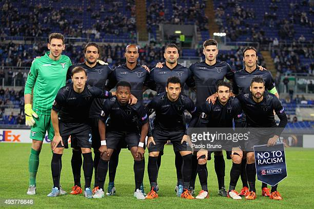 Lazio team poses during the UEFA Europa League group G match between SS Lazio and Rosenborg BK at Stadio Olimpico on October 22 2015 in Rome Italy