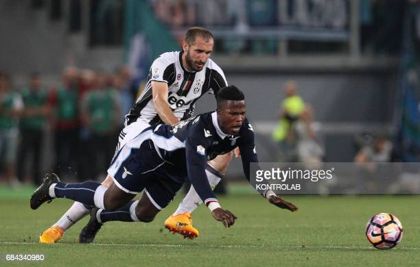 Lazio's forward from Senegal Keita Balde Diao fights for the ball with Juventus' defender from Italy Giorgio Chiellini during the TIM Italy Cup Final...