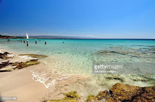 Lazzaretto beach Alghero Sardinia Italy