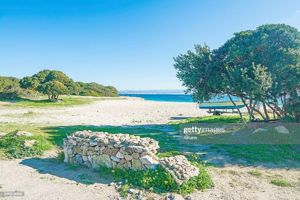 Lazzaretto beach under a clear sky : Stock Photo