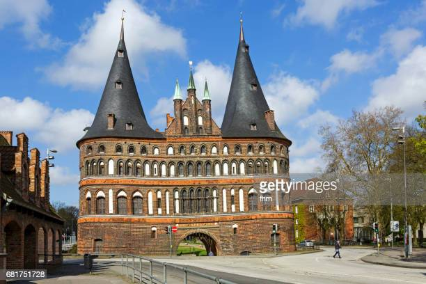 Lübeck, Holstentor - landmark of the city (Schleswig-Holstein, Germany)