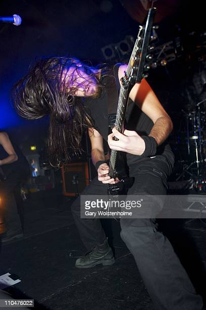 Le Bail of Svart Crown performs during the final day of Hammerfest at Pontins on March 19 2011 in Prestatyn United Kingdom