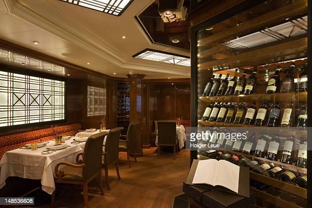 Le Champagne restaurant aboard cruiseship Silver Spirit (Silversea Cruises).
