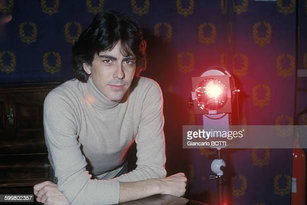 Le chanteur Alain Chamfort circa 1970 en France