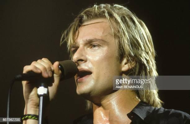 Le chanteur David Hallyday en concert au Zenith le 8 mars 1991 a Paris France