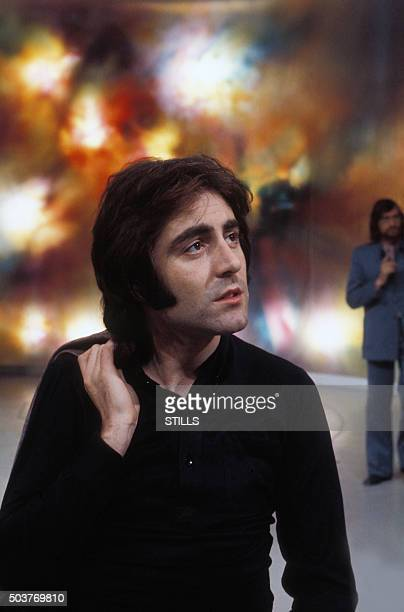 Le chanteur Michel Delpech à Paris France circa 1970