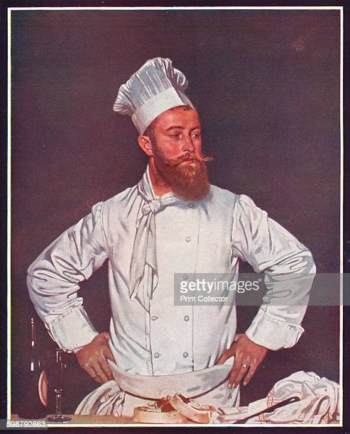 Le Chef de lHôtel Chatham Paris circa 1921 Painting held at the Royal Academy of Arts London From The Outline of Art edited by Sir William Orpen KBE...