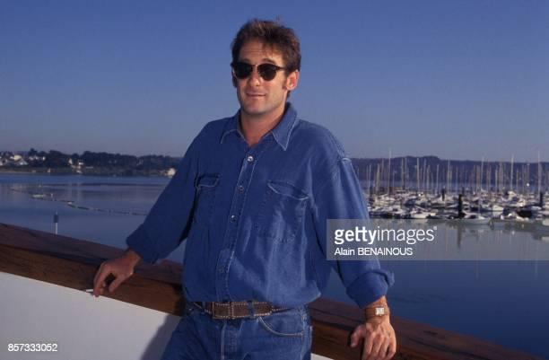 Le comedien Vincent Lindon president du jury du Festival de Brest en novembre 1992 a Brest France