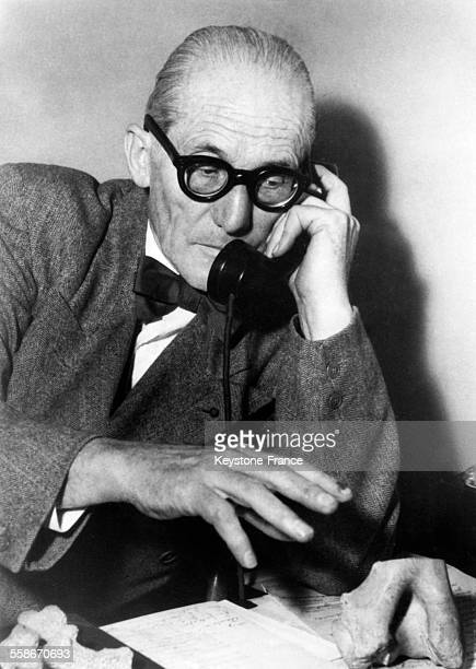 Le Corbusier au téléphone le 28 août 1965