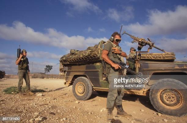 Le COS Commandement des operations speciales arrivant a Hodur pres de la frontiere ethiopienne lors de l'operation 'Restore Hope' en Somalie en...
