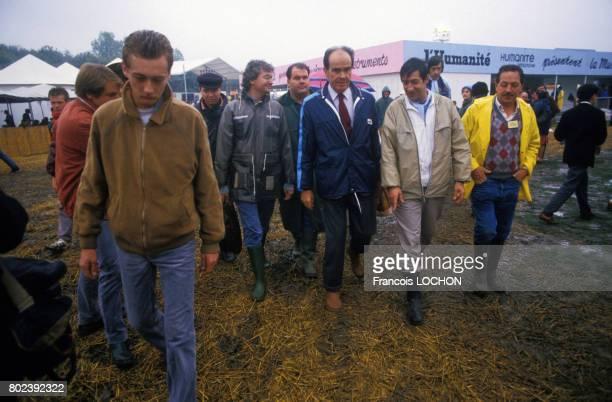 Le dirigeant du PCF Georges Marchais à la Fête de l'Humanité le 13 septembre 1986 à Paris France