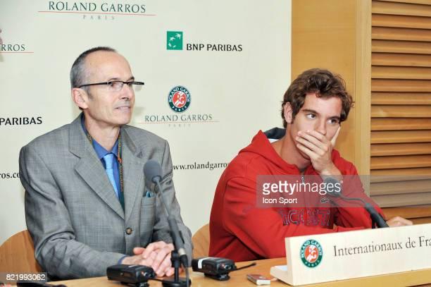 Le Docteur Luc MONTALVAN et Richard GASQUET Roland Garros 2008 Jour 2
