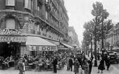 Le Dome cafe in Paris Montparnasse postcard c 1935