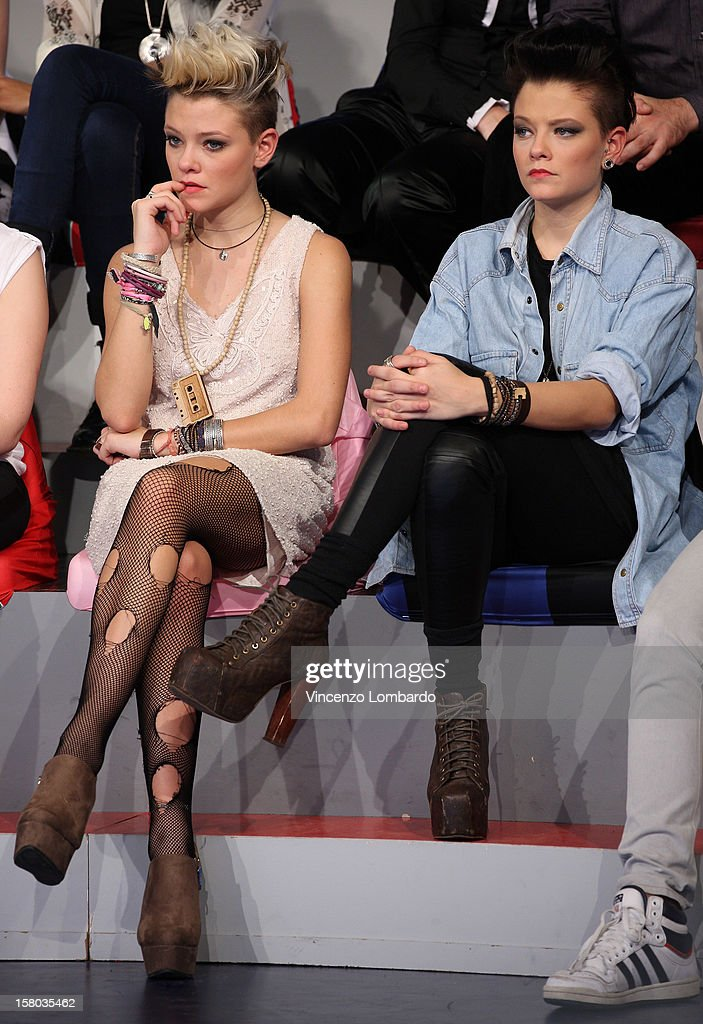 Le Donatella attend 'Cielo Che Gol' Italian TV Show on December 9, 2012 in Milan, Italy.
