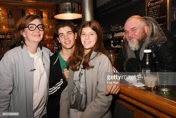 Le Grand Seigneur Editor in chief Olivier Malnuit and his family attend the 'Apero Gouter' Cocktail Hosted by Le Grand Seigneur Magazine at Bistrot...