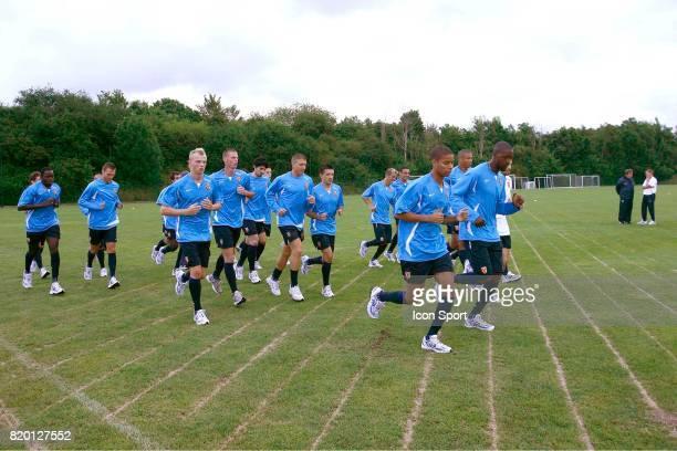 Le Groupe Reprise de l'entrainement du RC Lens La Gaillette Avion Saison 2007/2008