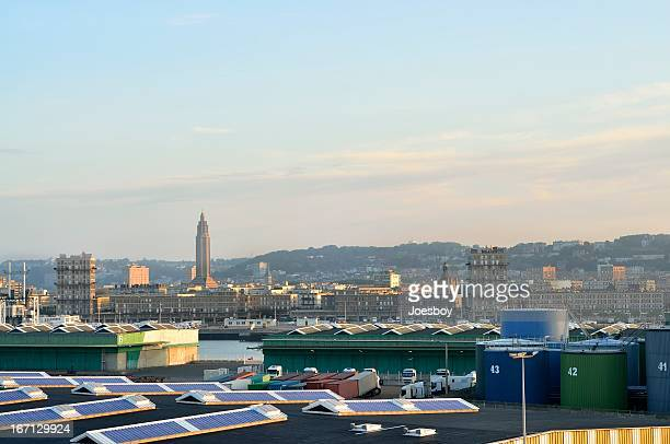 Le Havre Skyline At Dawn