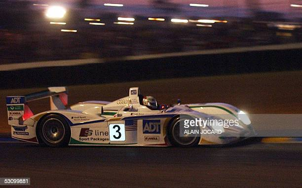 Danish Tom Kristensen drives his Audi number 3 during Le Mans 24 Hours car race 18 June 2005 in Le Mans AFP PHOTO ALAIN JOCARD