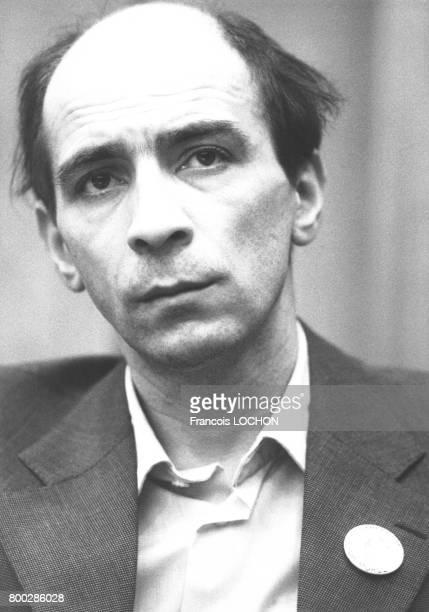 Le mathématicien et dissident soviétique Leonide Pliouchtch lors du congrès extraordinaire du cinquantenaire de la LICA à la salle Médicis du Sénat à...