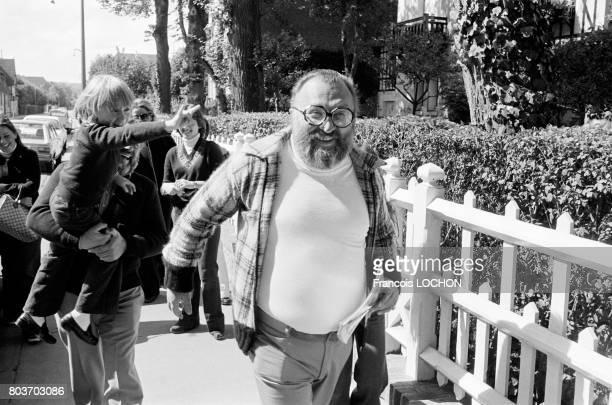 Le metteur en scène Sergio Leone en septembre 1976 à Deauville France