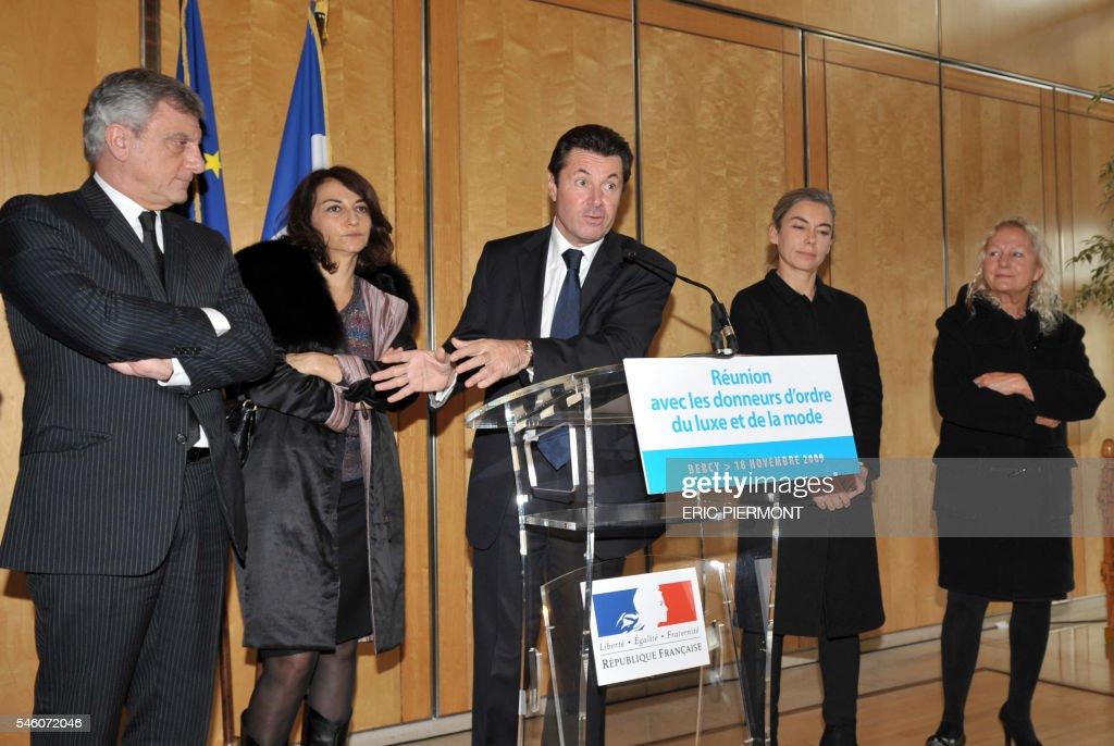 Le ministre chargé de l'Industrie Christian Estrosi s'exprime le 18 novembre 2009 à Paris lors d'un point presse après une réunion avec les donneurs...