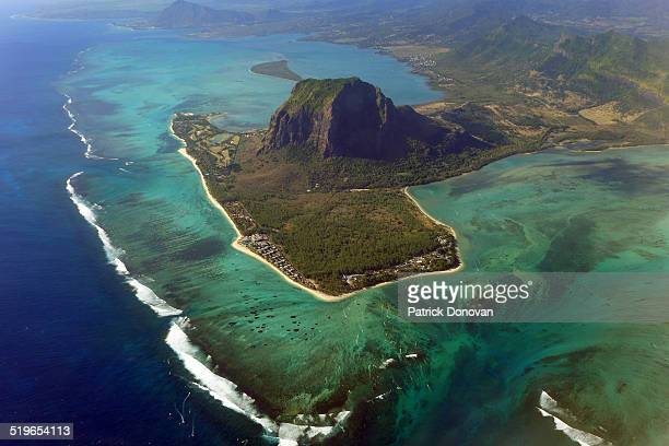 Le Morne Brabant from the sky, Mauritius