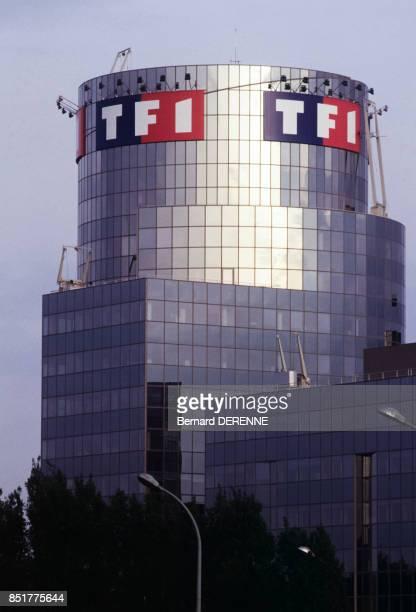 Le nouveau siège de la chaîne de télévision TF1 en avril 1992 à BoulogneBillancourt France