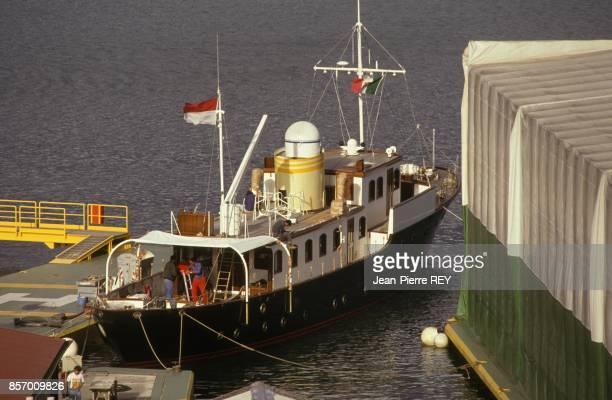 Le Pacha III yacht de 1931 dernier cadeau de Stefano Casiraghi a son epouse la Princesse Caroline de Monaco en septembre 1991 en France