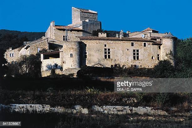 Le PoetLaval castle 13th century RhoneAlpes France