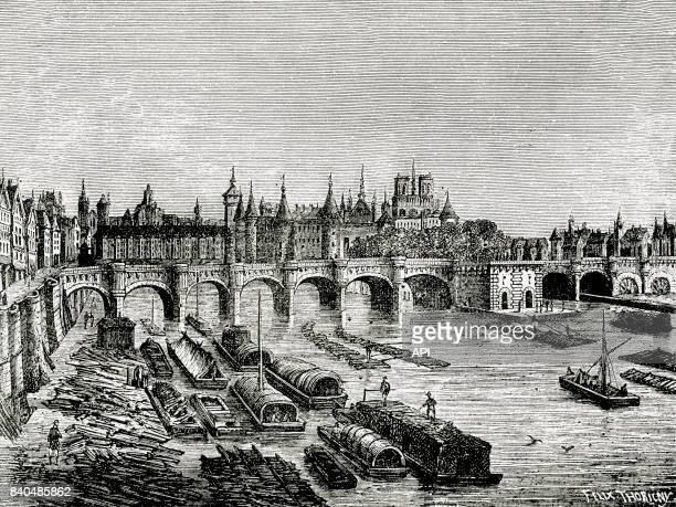 Le pont Neuf au XVIè siècle à Paris France