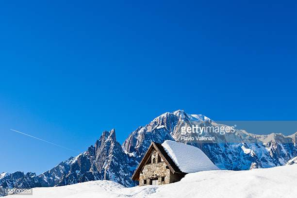 Le Pre village in Aosta Valley in winter