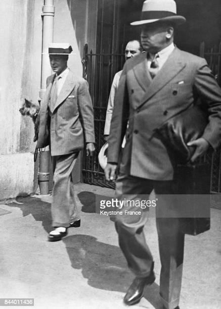 Le prince de Galles en vacances à Cannes France en août 1935