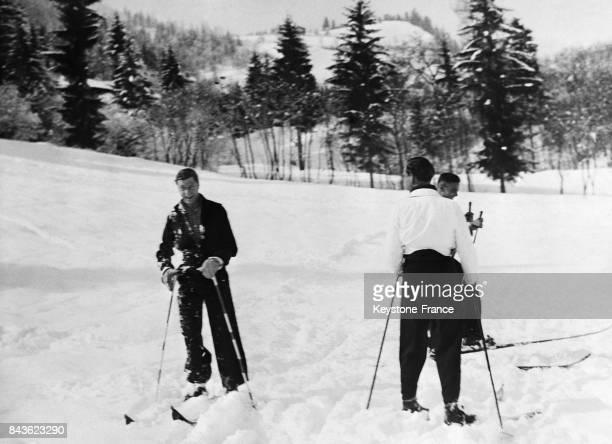 Le Prince de Galles fait du ski le 7 février 1935 à Kitzbuhel Autriche
